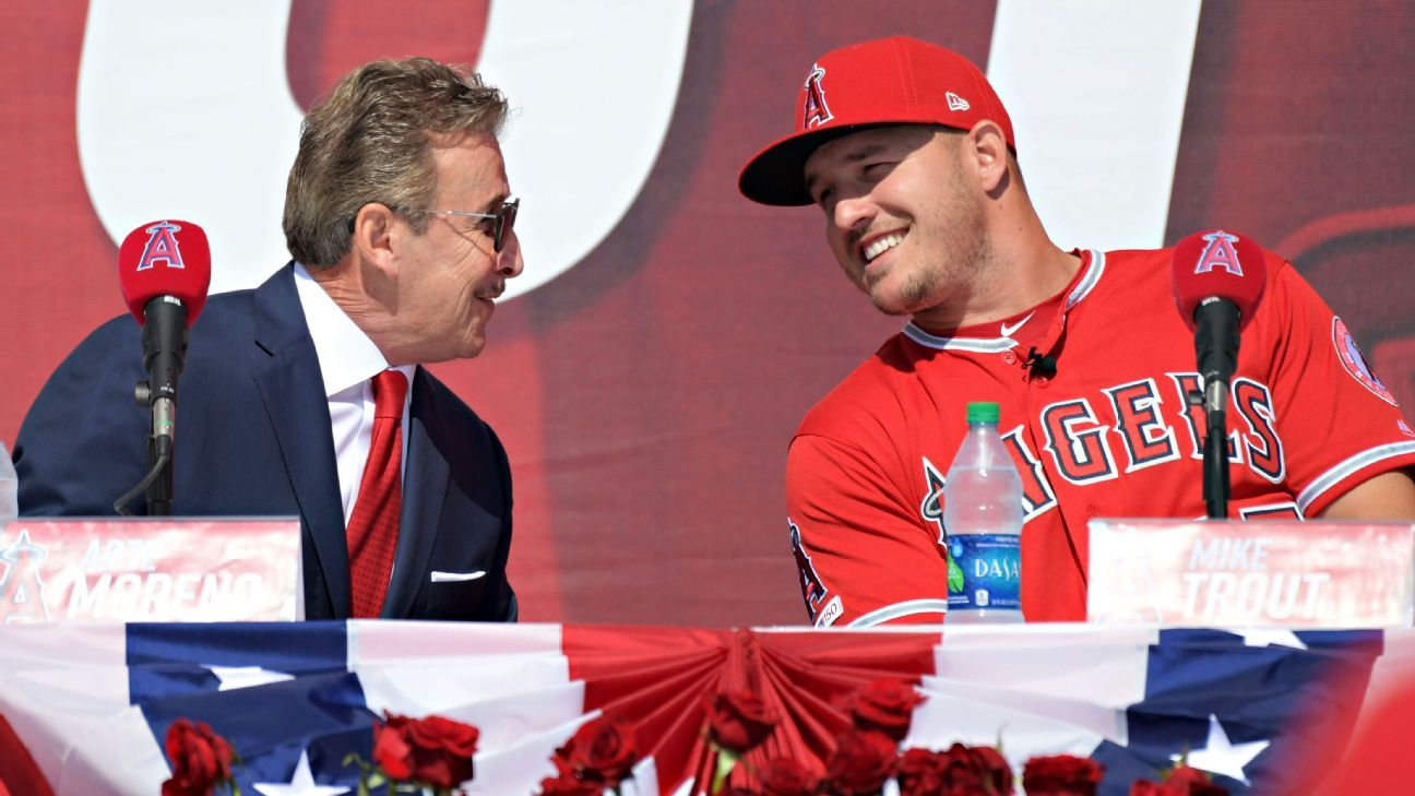 Arte Moreno and Mike Trout