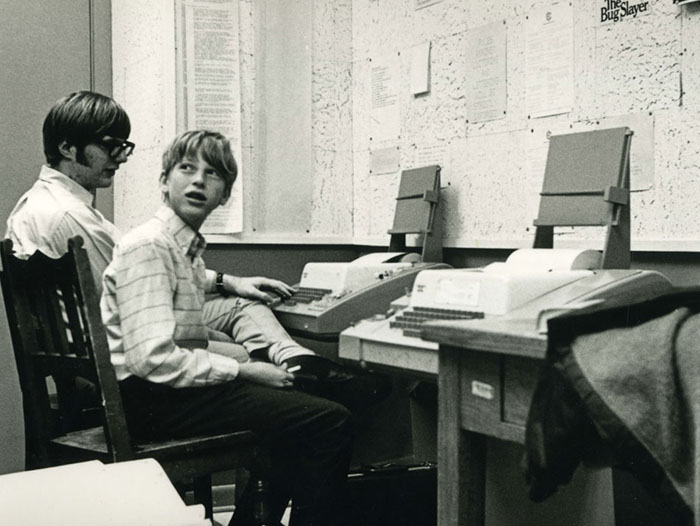 Bill Gates (Right) and Paul Allen (Left) at Lakeside School