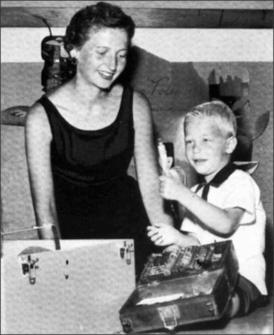Bill with his mother, Mary