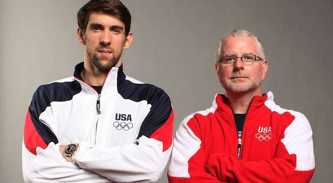 Michael Phelps and Bob Bowman